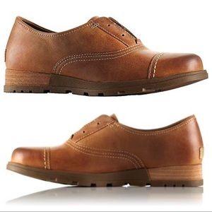 "Sorel ""Major"" Genuine Leather Oxford Shoes Size 9"